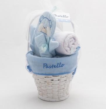 Gift nascita idea regalo x bambino set cesto in vimini 4 pezzi