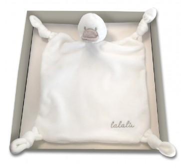 Doudou neonato con peluche Lalalu color latte