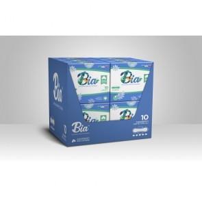 Assorbenti notte igienici con ali BIA biologici 100% cotone organico ipoallergenici 4 pz