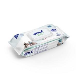 Salviettine umidificate Opplà per neonato Talco e Pantenolo formato famiglia