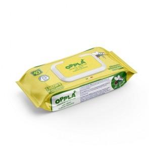 Salviettine antinsetti umidificate Opplà per neonato alla citronella 12 sacchetti